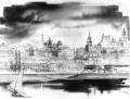 Panorama Starego Miasta, 1950. Rys. Zygmunt Stępiński