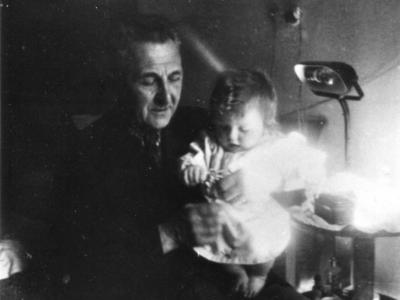 Cz.Jankowski z wnuczką Magdaleną, marzec 1940
