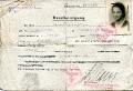 Ostatni okupacyjny dokument Hanny Woyzbun, 1945