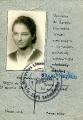 Legitymacja szkolna Hanny Woyzbun, 1945