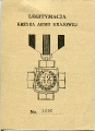 Okładka legitymacji Krzyża AK nr 1230