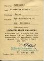 Legitymacja Krzyża AK nr 1230