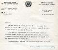 Podziękowania sekretarza ONZ Daga Hammarskjolda dla SJ