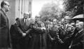 Spotkanie absolwentów, 1968. Pierwszy z lewej K. Rudzki