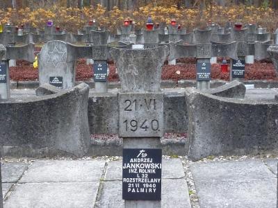 Grób Andrzeja Jankowskiego w Palmirach