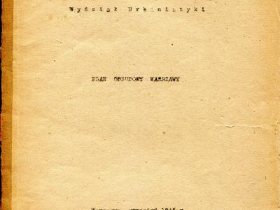 Plan Odbudowy Warszawy, wrzesień 1946 - okładka