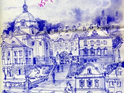 Nowe Miasto - projekt. Rys. Jan Knothe