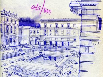 Bielany - projekt. Rys. Jan Knothe