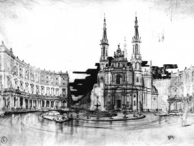 Projekt Placu Zbawiciela, 1951
