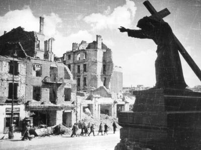 Krakowskie Przedmieście, 1945