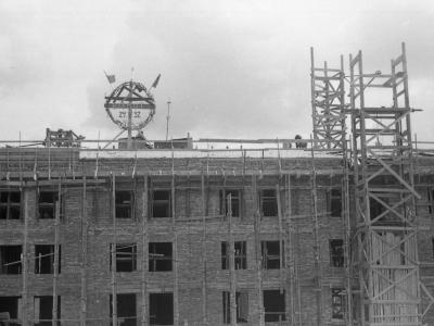 Wiecha na budowie MDM, 24 V 1952