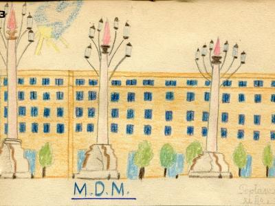 Rysunek ucznia Szkoły Podstawowej Nr 12, 1952