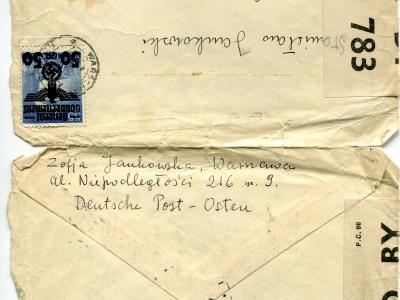 List z Warszawy