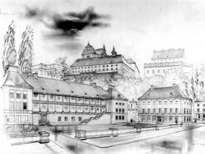 Mariensztat. Rys. Zygmunt Stępiński