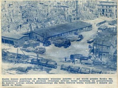 Relacja prasowa z budowy Trasy W-Z, wiosna 1948